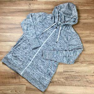 Athleta Blissful CYA hoodie, heather gray, sz M